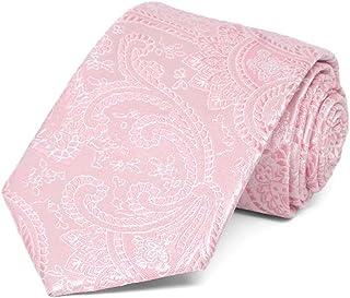 TieMart Boys' Pale Pink Clara Paisley Necktie