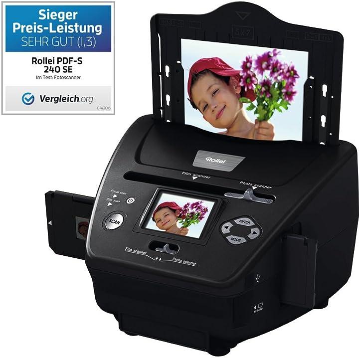 Multi scanner 5.1 megapixel per diapositive, negativi, foto, incl. software di ritocco immagini - nero rollei Rollei PDF-S 240