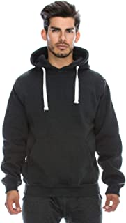 Mens Hipster Hip Hop Basic Heavyweight Pullover Hoodie Jacket (Upto 6XL Plus)