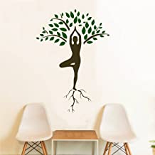Rawpockets 'Meditation Tree' Wall Sticker (PVC Vinyl, 0.99 cm x 85 cm x 120 cm)