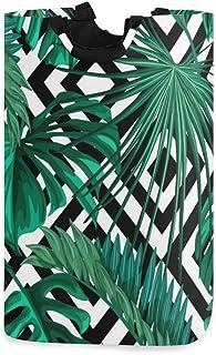ZOMOY Grand Organiser Paniers pour Vêtements Stockage,Imprimer Été Exotique Jungle Plant Tropical,Panier à Linge en Tissu,...