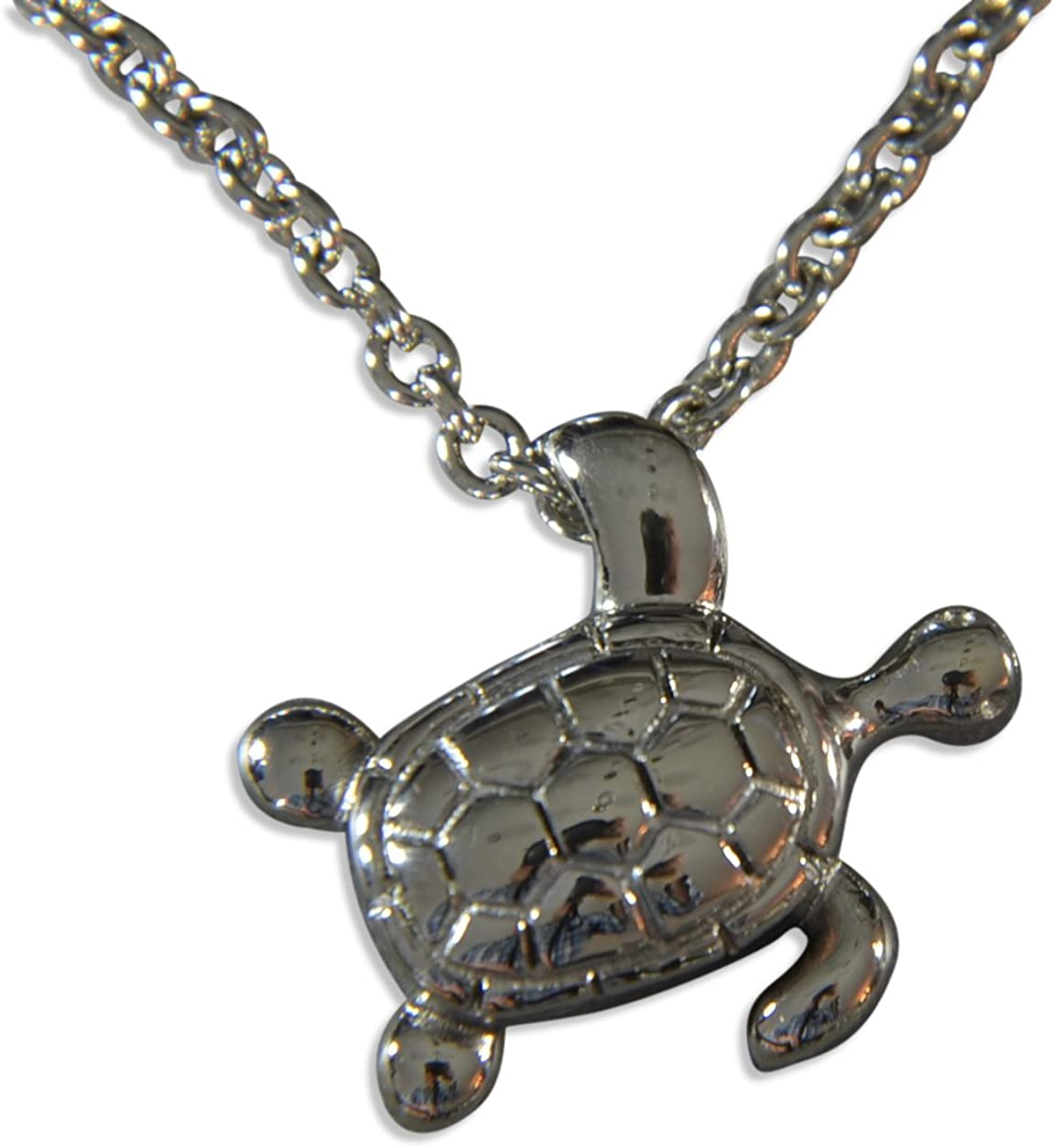 Gwendelicious Cheap Outlet SALE mail order specialty store Silver Hanging Turtle Urn Necklace Cremation Secre