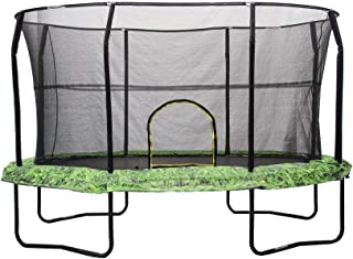 JumpKing Oval Trampoline with Fern Graphic Pad