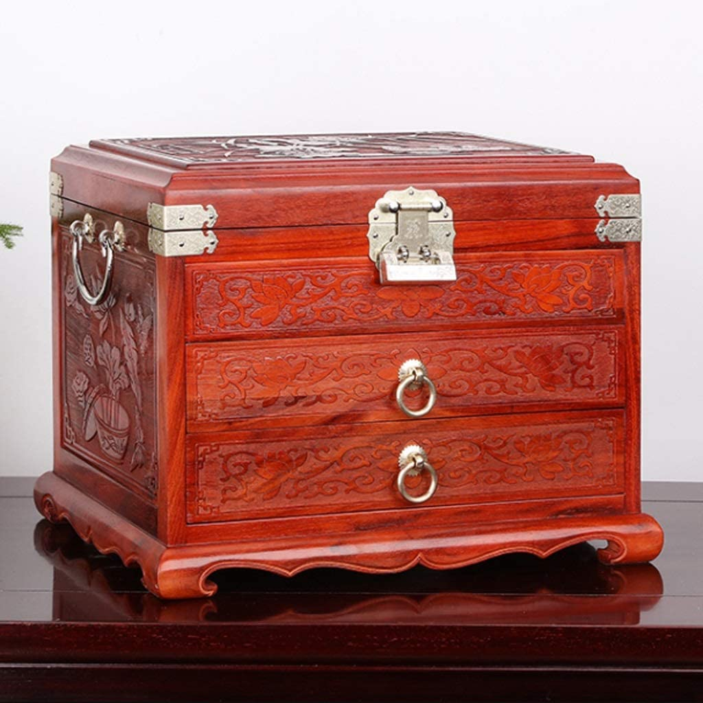 ZJHZ Jewellery Box for Max 68% OFF Women Redwood 35% OFF Lift with Organizer Jewelry