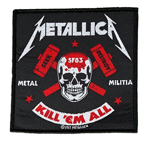 Unbekannt Metallica Metal Militia Aufnäher Metallica Patch Gewebt & Lizenziert !!