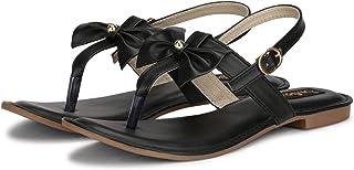 FASHIMO Women's Flat Sandals A1-black-36_Parent