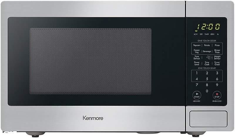 Kenmore 70913 Countertop Microwave 0 9 Cu Ft Stainless Steel