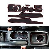 Muchkey antidérapant Tapis Poubelle de porte intérieure Porte-gobelet caoutchouc Pad Ensemble de coupe pour Ford Fiesta MK709?138pièces par lot - Red