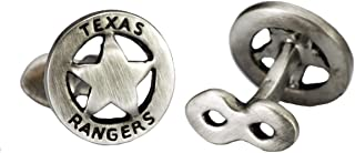 Officia Sterling Silver The Lone Ranger Star Sherriff Badge Cufflinks by by Robin Rotenier
