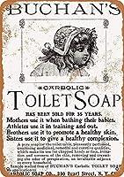 Toilet Soap 金属板ブリキ看板警告サイン注意サイン表示パネル情報サイン金属安全サイン
