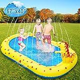 Lanlelin Joyhoop Splash Pad 68'', 8'' Grosor Aspersor niños