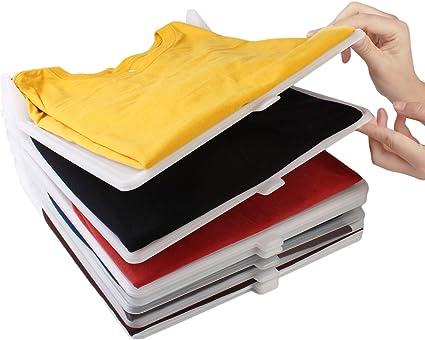 KOARBI Organizador de Camisetas, Ropa, Armario. Resistente y Reciclable. Antihumedad y Antiarrugas. Organiza Camisas, cajoneras, estanterías, ...