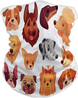 Cute Dog face.Puppy Pets,Seamless Face anas for Dust, Outdoors, Festivals, Sports Dogs Animals Breed and Puppies - s- Set ...