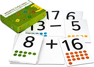 Attractivia Magnetic Number Flash Cards - Large 0-25 Number Cards with Addition, Subtraction, Multiplication and Division Symbols