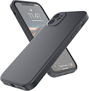 Supveco iPhone 11 Case, Liquid Silicone Full Covered Slim Case with [Enhanced Camera and Screen Protection] for Apple iPhone 11 6.1 inch (2019 Release), Black