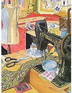 Diy Oil Painting Paint By Number Kit for Adults, Color By Number,Vintage Sewing Machine,16''X20''