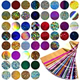 Mwoot 50 Diseños Nail Art Foil Sticker, Pegatina Calcomanías...