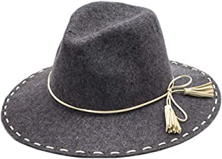 Hats in The Spring and Autumn Season, Pure Wool Top Hat is Made by Hand Cap Fashion (Color : Gray, Size : M)