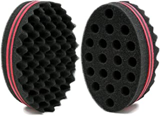 BEWAVE Big Holes Barber Hair Brush Sponge Dreads Locking Twist Afro Curl Coil Wave Hair..