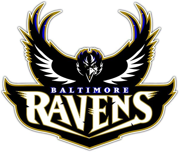 Vinyl Sticker Baltimore Ravens NFL Football Car Bumper Laptop Water Bottle Window 5 X 4 INCH