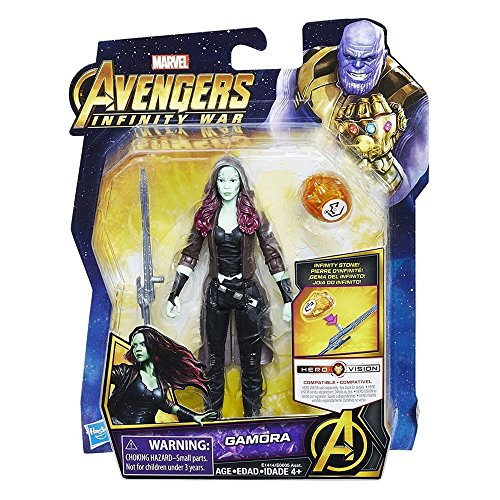 Hasbro Avengers Infinity War Personaje Gamora, Multicolor, E605_E1414EU4
