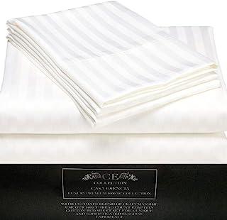 Casa Esencia Cotton 1000 TC Bedsheet (White_King)