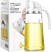 Auto Flip Olive Oil Dispenser Bottle,20 OZ Leakproof Condiment Container With Automatic..