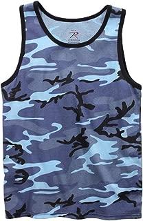 sky blue camo tank top