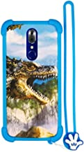 Case for UMIDIGI CRYSTAL Case Silicone border + PC hard backplane Stand Cover L