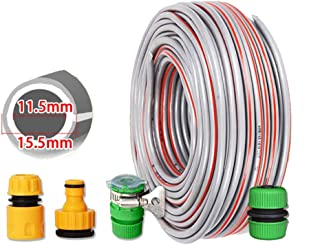Garden Hose HAIYU- 1/2 Inch PVC Hose Flexible Pipe with Standard Connection Kits, Soft and Wear Resistant, Multifunction Home Watering Hose Irrigation Hose (Color : 1/2 Inch, Size : 100m)