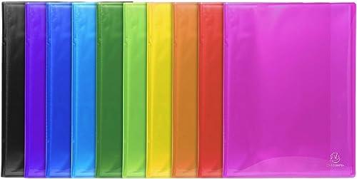 Exacompta 85570e Porte vues Idérama couverture polypro brillante et pochettes interieures lisse haute transparence 50...