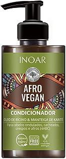 Inoar Condicionador Afro Vegan com Óleo de Rícino e Manteiga de Karité 300 ml, Inoar