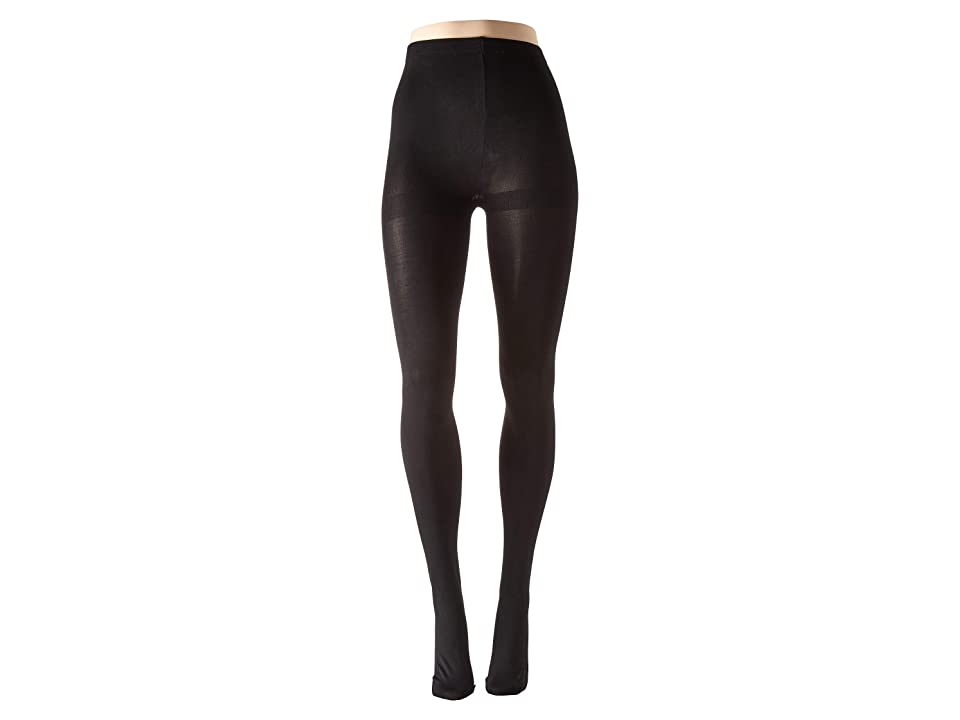 HUE Rhinestone Studded Backseam Tights (Black) Hose