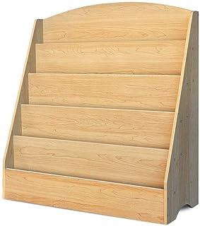 Keezi Wooden Non-Toxic Kids Bookshelf Children Bookcase Magazine Rack Organizer Kids Bookshelf for Home Bedroom Furnitrue ...