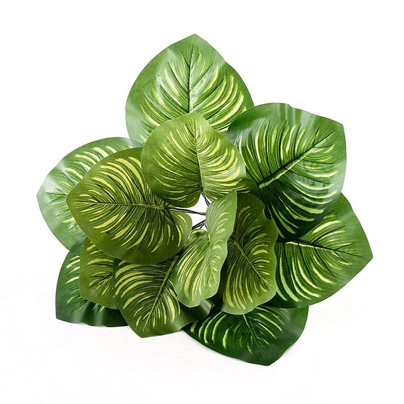 割り込み割るカテゴリー人工観賞植物 5台の人工的な葉は家の台所党装飾のための緑を植えます 屋外または室内装飾 (Color : Green, Size : Free size)