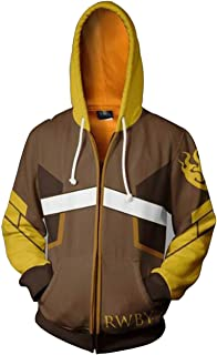 Anime RWBY Yang Xiao Long 3D Printed Hoodie Jacket Cosplay Costume Sweatshirt Jacket