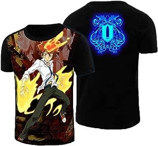 Gumstyle Hitman Reborn Anime Short Sleeve T Shirt Adult Cosplay Luminous Tee