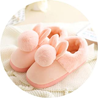 Cotton Slippers in Autumn and Winter All Inside and Outside The House with Anti-Skid House Warm and Thick-Rooted wome