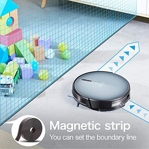 Updated 2020 Version Proscenic 830T WLAN Saugroboter, Staubsauger Roboter (3 in 1: Saugroboter mit Wischfunktion), App- und Alexa Steuerung, 350ML Wassertank,Magnetband für Bereich Begrenzung - 5