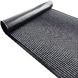 jxgzyy Dirt Stopper Carpet Runner Rubber Backed Hallway Runner Heavy Duty Barrier Mat Grey Backing Utility Mat Non-Slip Striped Rugs for Indoor Outdoor Office Livingroom Use 90x300cm