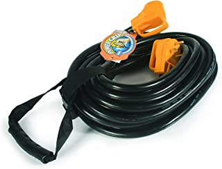 Camco 50' PowerGrip Heavy-Duty Outdoor 30-Amp Extension Cord for RV and Auto   Allows for Additional Length to Reach Distant Power Outlets   Built to Last (55197)