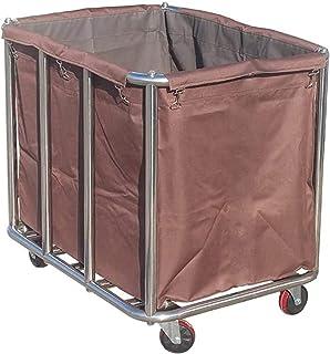 WPJ Sacs amovibles avec buanderie Chariot de buanderie médicale, Heavy Duty Hotel Rolling Trousse de blanchisserie Chariot...
