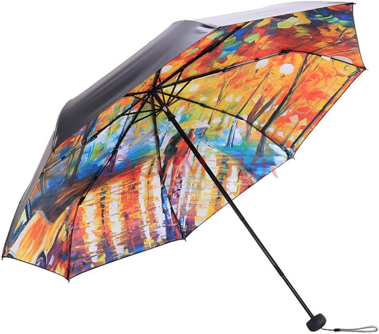 UV Umbrella Full Shade Black Vinyl Transfer Oil Painting 30 Percent Umbrella Umbrella Sun Umbrella