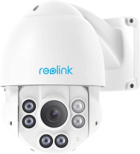 Reolink PTZ PoE IP Security Camera High Speed Pan Tilt 4X Optical Zoom 5 Megapixels Super HD 3072x1728 Night Vision D...