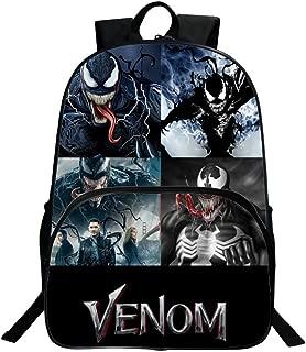 Venom Backpack,3D Movie Print Children School Book Bag Kids Printing Backpacks