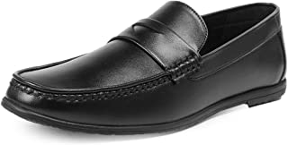 Bacca Bucci® Mens Loafers-Italian Dress Casual Loafers for Men Slip-on Driving Shoes-Black