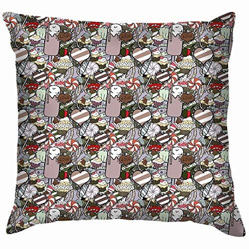 Moily Fayshow Cute Cartoon Colorful Beauty Fashion Holidays Pillow Case Throw Pillow Cover Square Cushion Cover 55X55 Cm