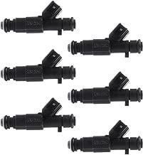 ROADFAR Fuel Injectors Parts, 4 Hole Engine Fuel Injector Kits Fit for Jeep Cherokee/Grand Cherokee/Wrangler,Dodge Ram 1500,Dodge Ram 2500 Van/Ram 3500 Van 0280155923,Set of 6