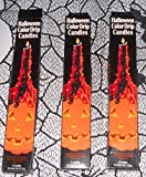 Halloween Color Drip Candles Set 0f 6 Candles 10""