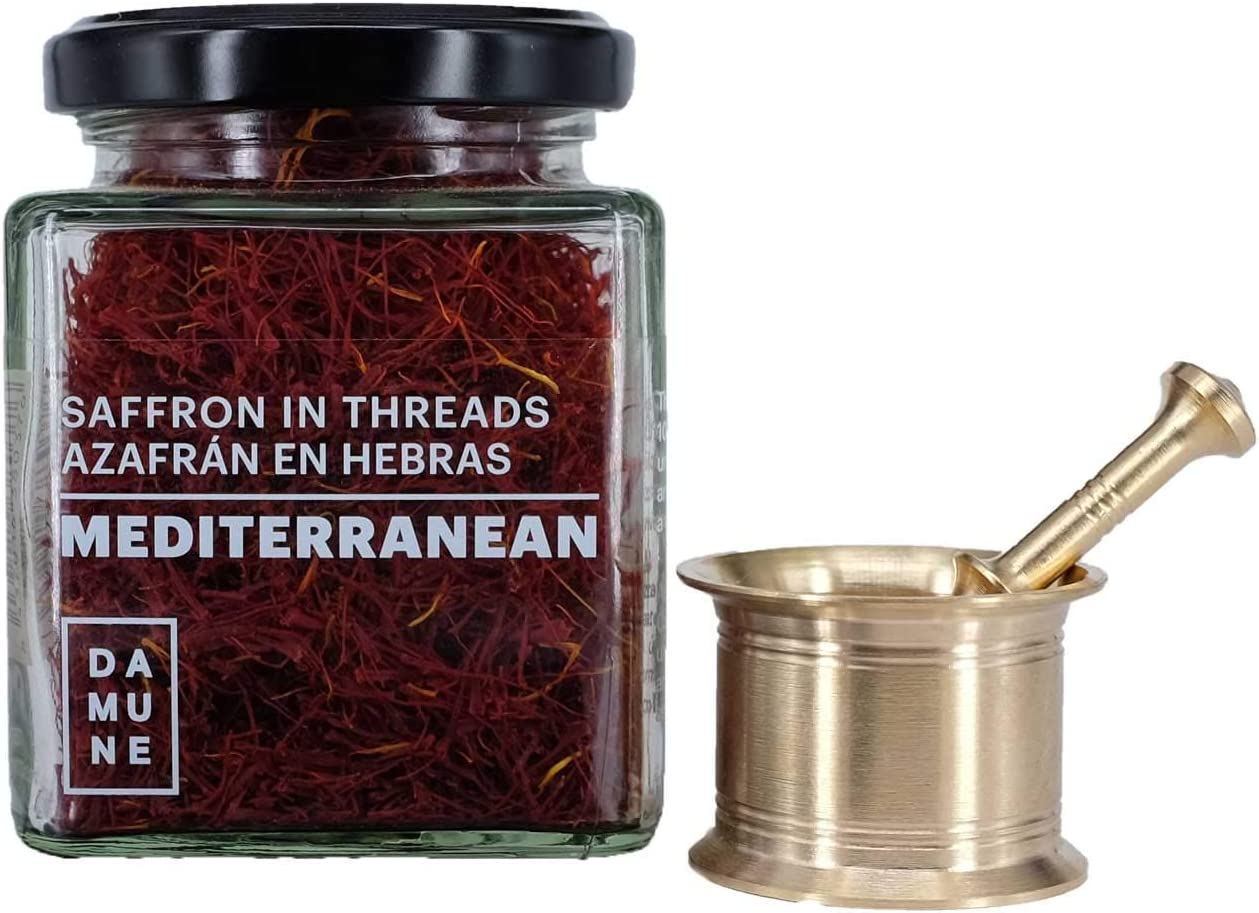 Azafrán en hebras Mediterranean - Categoria I Superior 20 g con Mortero